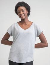 Women`s Loose Fit V Neck T